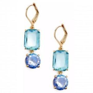 Kate Spade Geo Shape Crystal Drop Earrings